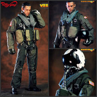 HOT FIGURE TOYS VERYHOT 1/6 VH1049 101st US Navy Fighting combat squadron pilot Equipment suit Dark Sickle Hand/Relentless Reape