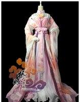 Аниме! Чудо Nikki древней китайской ультра великолепный цифровой печати Косплэй костюм полный костюм одежда + аксессуары, Бесплатная доставка
