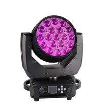 Фондовый свет этапа 19 * 15 Вт зум высокой яркости мини светодиодные движущиеся мытья головы для