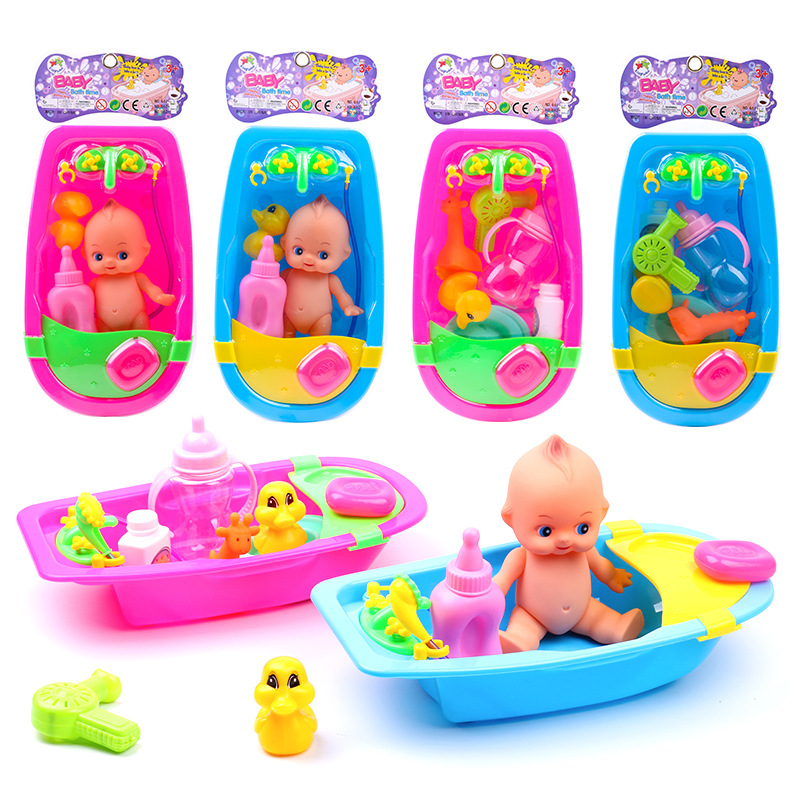 Baby Bath Toys for Kids Water Toys in Bathroom with Floating Rubber Duck for Children Girls Boys Shower Educational Infant Toy