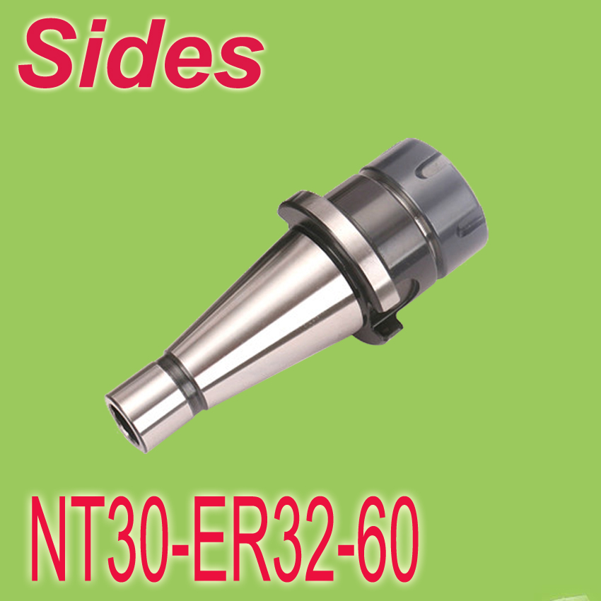 Free Shipping  ISO30 NT30 ER32 60mm Spring Collet Chuck CNC  Milling Toolholder NT30-ER32-60 free shipping iso40 nt40 oz25 80mml collet chuck milling toolholder use oz25 collet clapming 3 25mm tools