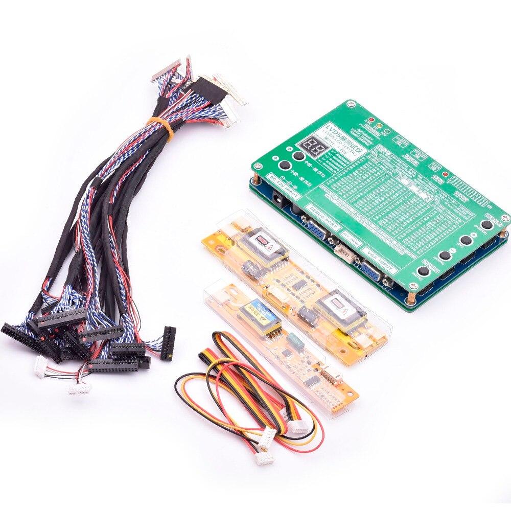 6-й ноутбук ЖК/светодио дный экран тестер набор инструментов панель экран тестер Lvds кабели инвертор