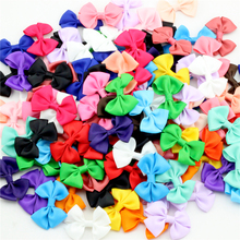 """10pcs 2.5"""" Baby Toddler Boutique Small  Ribbon Bow Solid Satin Bow tail Infant Headwear Girls Hair accessories Party Decoration"""