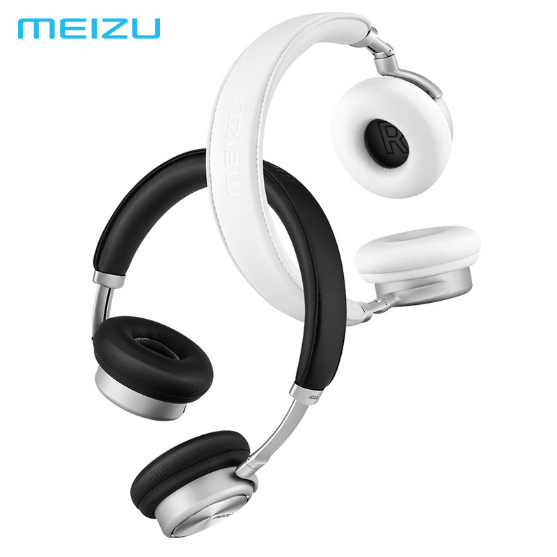Meizu HD50 Headband HIFI Stereo Bass Music Headset Aluminium Alloy Shell Low Distortion Headphone with Mic for iPhone Samsung LG