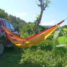 Double Person Hammock Parachute Portable Outdoor Camping Indoor Home Garden Sleeping Hammock Bed 300kg Max Loading