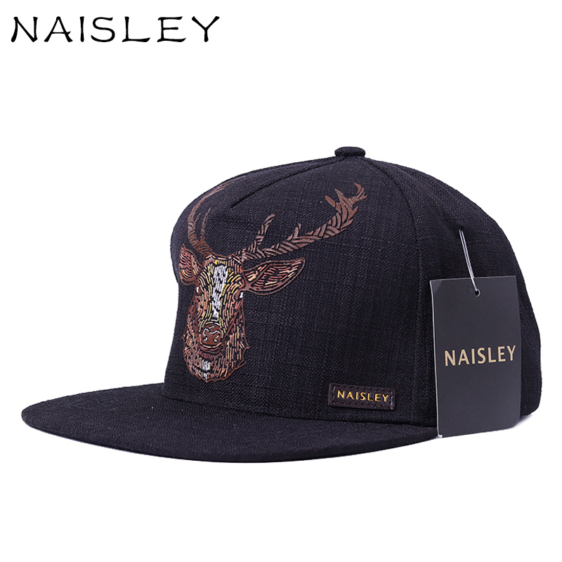 NAISLEY Male Baseball Cap Snapback Hat Unisex Fashion Deer Printing Pattern Cotton Cap Hats For Women Men Hip Hop Cap Sun-shade brand bonnet beanies knitted winter hat caps skullies winter hats for women men beanie warm baggy cap wool gorros touca hat 2017