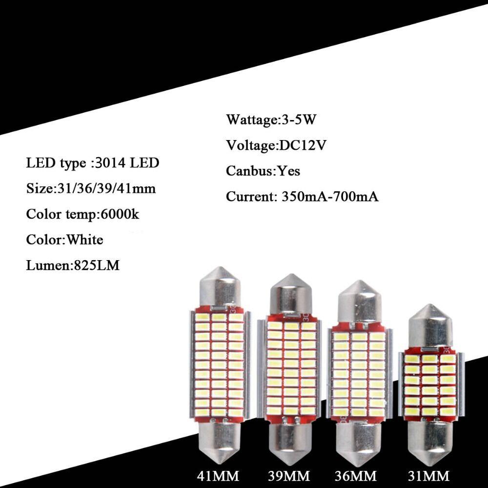 AutoEC C5w 3014 LED Canbus Error Pulsuz Şənbə günbəzi 31/36/39 / - Avtomobil işıqları - Fotoqrafiya 2