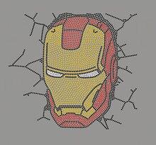 2pc/lot Iron Man Break Through Wallshiny applique patches sticker Hotfix iron on crystal transfers design iron on patches cuetec meteor break 2pc пул 13 681