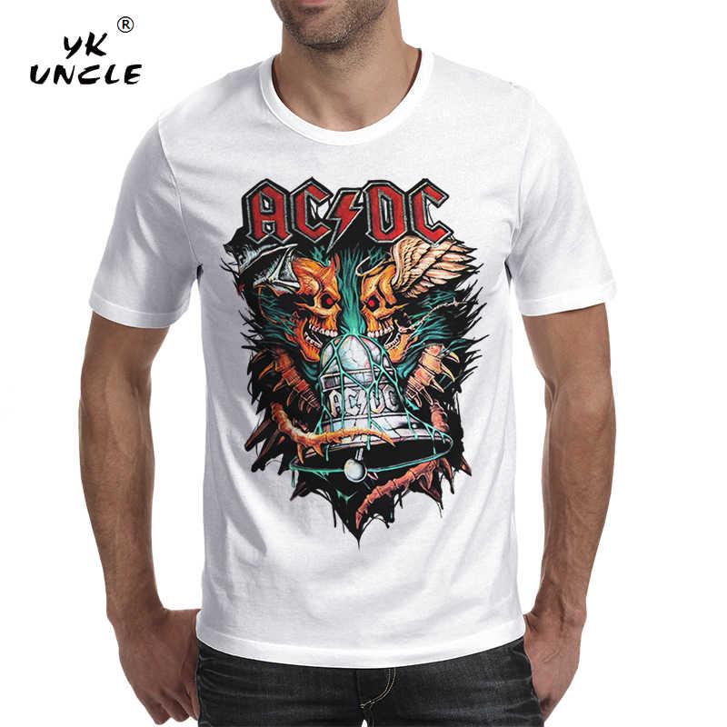 YK UNCLE Брендовые мужские футболки 2018 Мода AC DC рок группа танки футболка крутая черная или белая футболка индивидуальная футболка для мужчин s