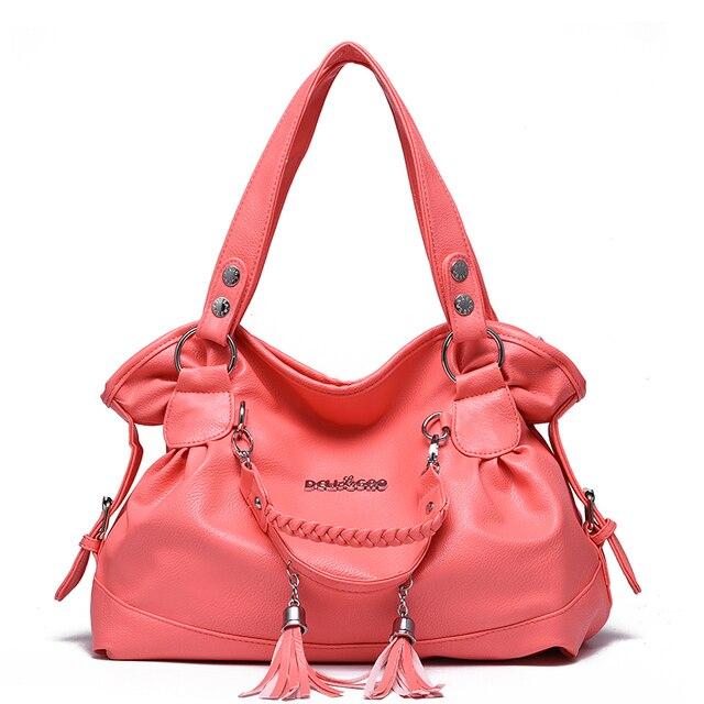 Женщины сумка сумки посыльного bolsa feminina сумки известных брендов сумки кожа crossbody моды bolsas мягкой Кисточкой мешок руки