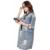 Mujeres 2016 Del Resorte Del Otoño Abrigo Prendas de Vestir Exteriores Ocasional Floja Calle Denim Agujero Chaqueta de Jean de La Vendimia Abrigos Botón de Lavado Ligero Chaquetas Largas