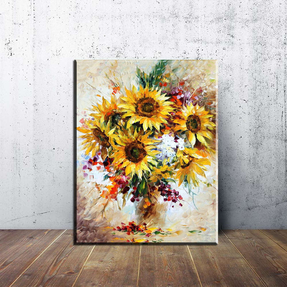 3dRose Anne Marie Baugh T-Shirts Illustrations Pretty Image of Watercolor Sunflower Illustration