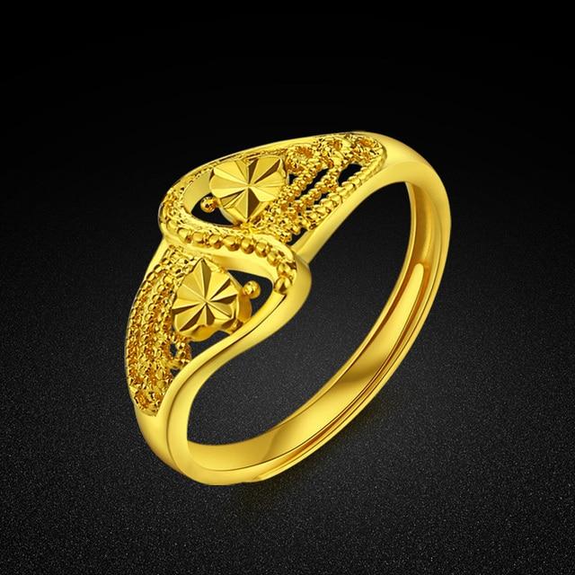 Design Of Gold Rings For Ladies | Elegant Female Gold Ring Pattern Carving Design Gold Ring Girl
