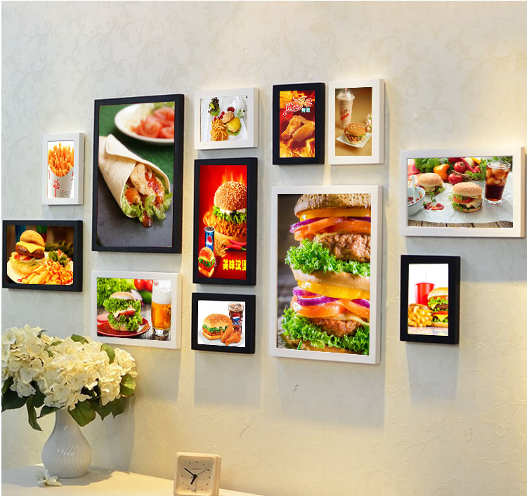 Hot dog restaurant burger chicken hamburger fast food for Fast food decoration