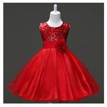 Anniversaire Tutu Robes Pour Les Filles Kids Party Robe Paillettes Rose Fleur De Mariage Robes De Soirée Enfants Princesse Robe Costumes