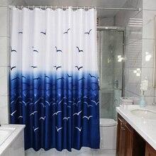 Красивые занавески чайки шаблон гостиной цветной печати ванная комната занавес водонепроницаемый ванна шторы для ванной