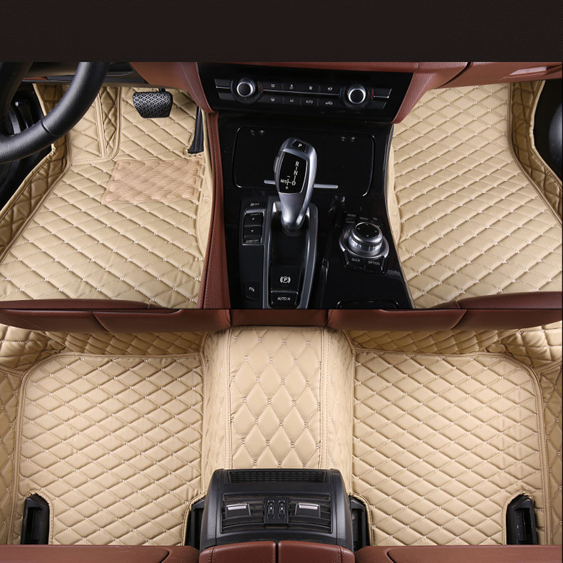 где купить Auto Floor Mats For Honda Accord 2003-2007 Foot Carpets Step Mat High Quality Brand New Embroidery Leather Mats дешево