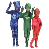 Free Shipping Les Pyjamasques Fantasia Infantil Cosplay PJ Masks Hero For Girls Costume Birthday Party For