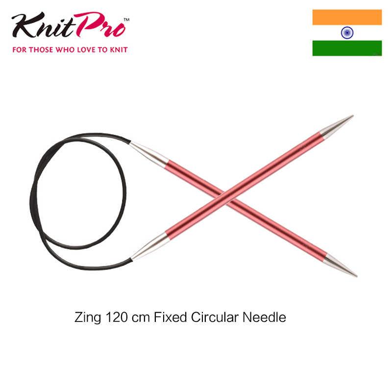 1 adet Knitpro Zing 120 cm sabit dairesel örgü iğnesi