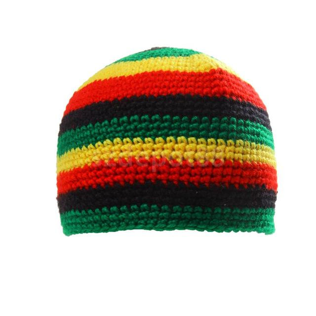 Fashion Reggae Jamaica Rasta Beanie Hat Dome Cap DreadLock Tam Birthday Gift