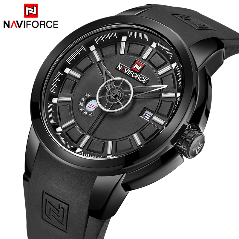 Mens Watches Top Luxury Brand NAVIFORCE Men Waterproof Watches Men's Quartz Date Clock Male Sports Wrist Watch Relogio Masculino