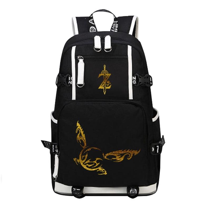 2018 The Legend of Zelda: Breath of the Wild Printing Backpack Canvas School Bags Zelda Bags Laptop Backpack Travel Rucksack