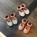 2017 primavera/verano de las muchachas de la princesa zapatos del niño sandalias de niño zapatos de bebé de punto recorte sandalias