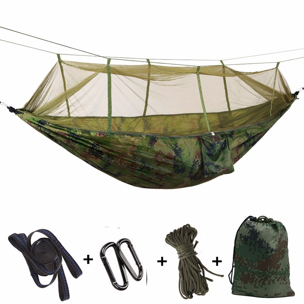 Hammock with Mosquito Net, anit-mosquito mosquito net,CZD-042 Double Person Parachute for Backpacking