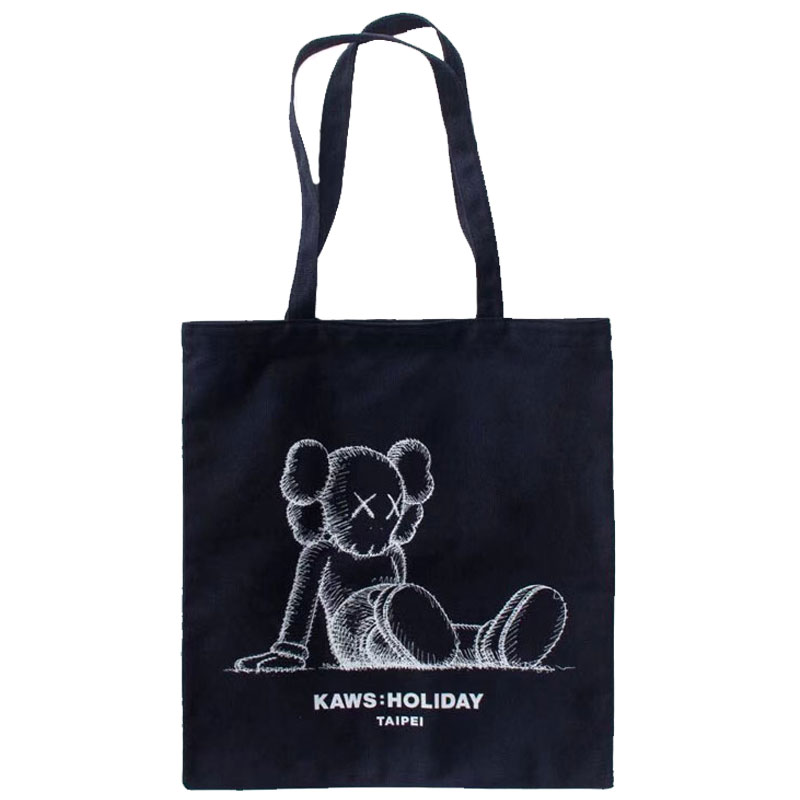Storage Bags Sunny 42cm Kaws Graffiti Canvas Bag Originalfake Street Art Bff Doodle Leisure Bags Home Decoration Accessories For Living Room R838 To Assure Years Of Trouble-Free Service