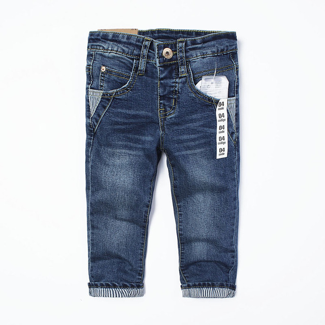2016 autumn fashion luxury brand the original single-style children's trousers high-quality stretch pants boys and girls jeans 2