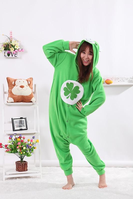 d4e888b3ee9a Detail Feedback Questions about Green Lucky Bear Onesies Unisex Sleepsuit  Adult Pajamas Cosplay Costumes Animal Onesie Sleepwear Jumpsuit Pyjamas on  ...