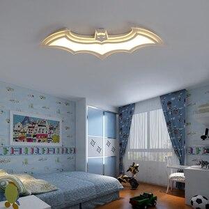 Image 5 - Batman led ceiling lights for kids room Bedroom balcony home Dec AC85 265V acrylic modern led ceiling lamp for childroom room