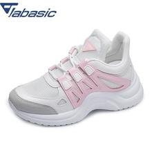 JABASIC Shoes Woman Autumn Walking Shoes 2018 New Ulzzang Light Weight White Shoes Woman Platform Sport Shoes Female Sneaker