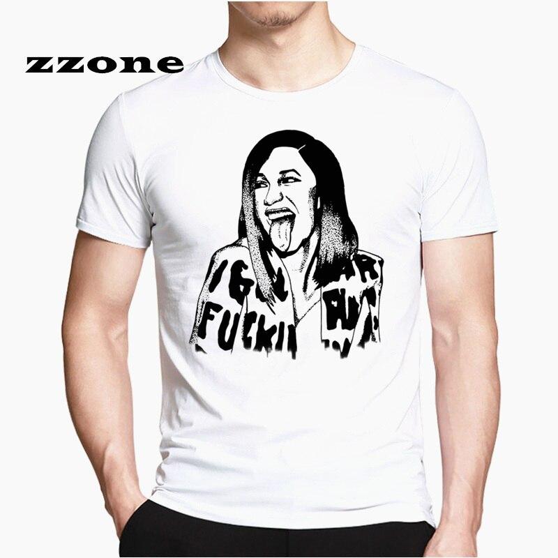 46019447e Las nuevas camisetas Cardi B hombres/mujeres verano moda música Hip Hop  camisetas manga corta Tops ...