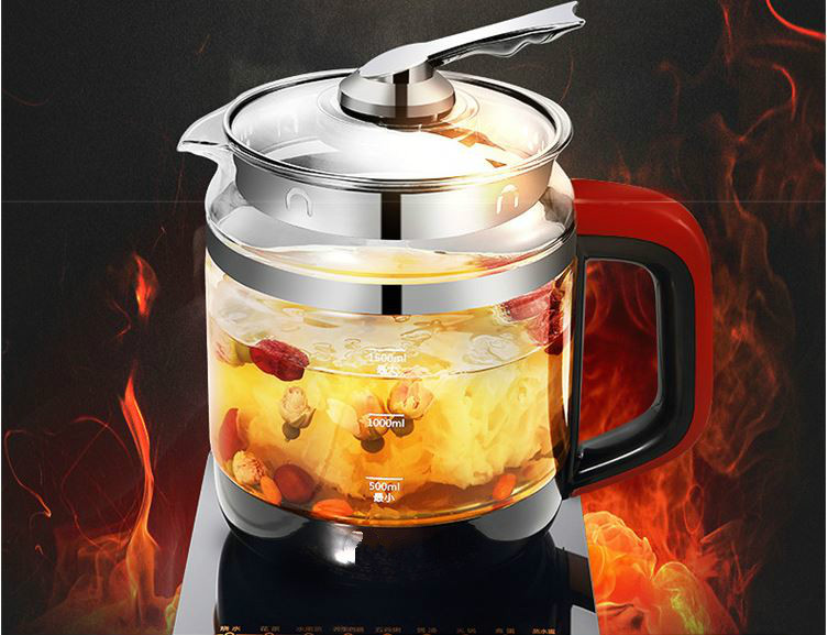 Electric kettle health pot raising multi-functional zhengpin double thick electric glass refill boiling Safety Auto-Off Function electric kettle multi functional health care flower tea add thick glass pot