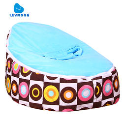 Levmoon Средний круг печать кресло мешок детская кровать для сна Портативный складной детского сиденья Диван Zac без наполнителя