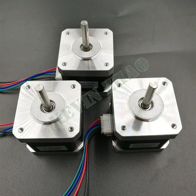 CE certification 3pcs 4-lead Nema17 Stepper Motor 42 motor D shaft motor 42BYGH 1.7A (17HS4401) 3D printer motor and CNC XYZ