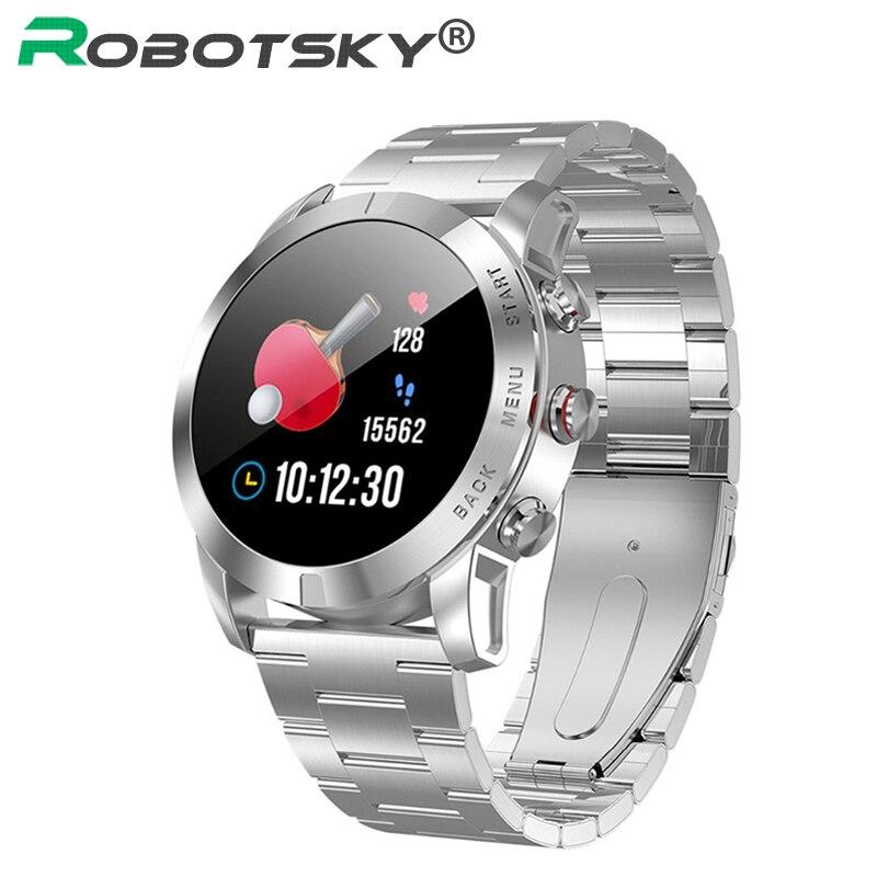 O Robotsky S10 Relógio Inteligente Homens IP68 Smartwatch À Prova D' Água Esporte Heart Rate Monitor de Fitness Rastreador Relógio Relógios para Android IOS