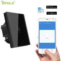 EPULA EU US UK Smart Remote Control Wifi Switch 1 2 3 Gang Wall Touch Glass