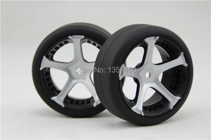 Fits For 1:10 Drift Car With A Long Standing Reputation Painstaking New Design 4pcs Rc1/10 High Speed Drift Tires Tyre Wheel Rim W5s5s 3mm Offset painting Silver