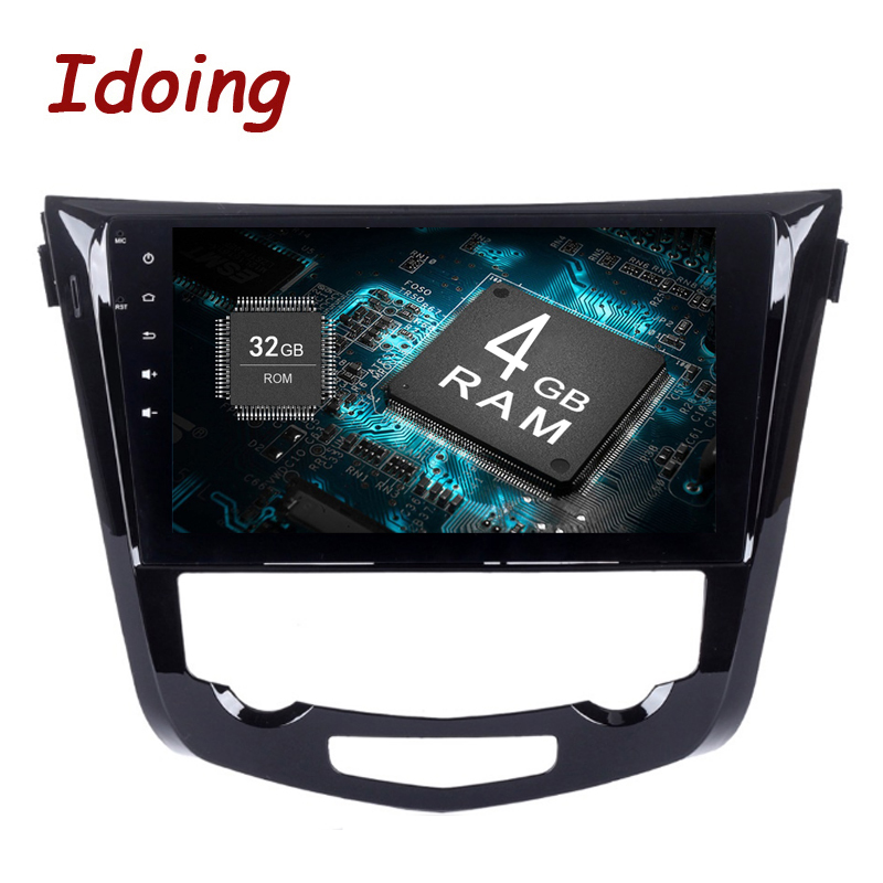Idoing 2Din 10.2 8Core 4+32G Android8.0 Car Multimedia Radio Player For Nissan X-Trail Qashqai Steering Wheel Fast Boot tv 3/4G ...