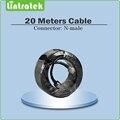 Negro conector n-macho 20 metros cable para Conectar al aire libre/antena interior para amplificador de señal móvil
