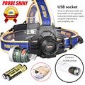 PROBE SHINY XM-L T6 Headlamp Headlight Head Light LED Rechargeable USB+Battery l7110