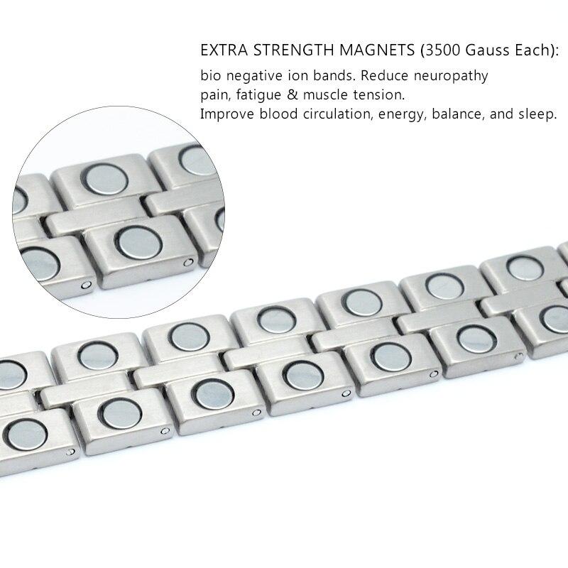00ce3bad6f96 Escalus 100% puro cobre joyería de los hombres pulsera magnética de los  hombres de moda