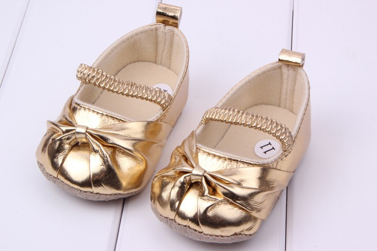 Cute Baby Shoes Children Shoe Noble Bow Princess Soft Sole Baby Shoe Girls 3 Size 2 Color To Choose