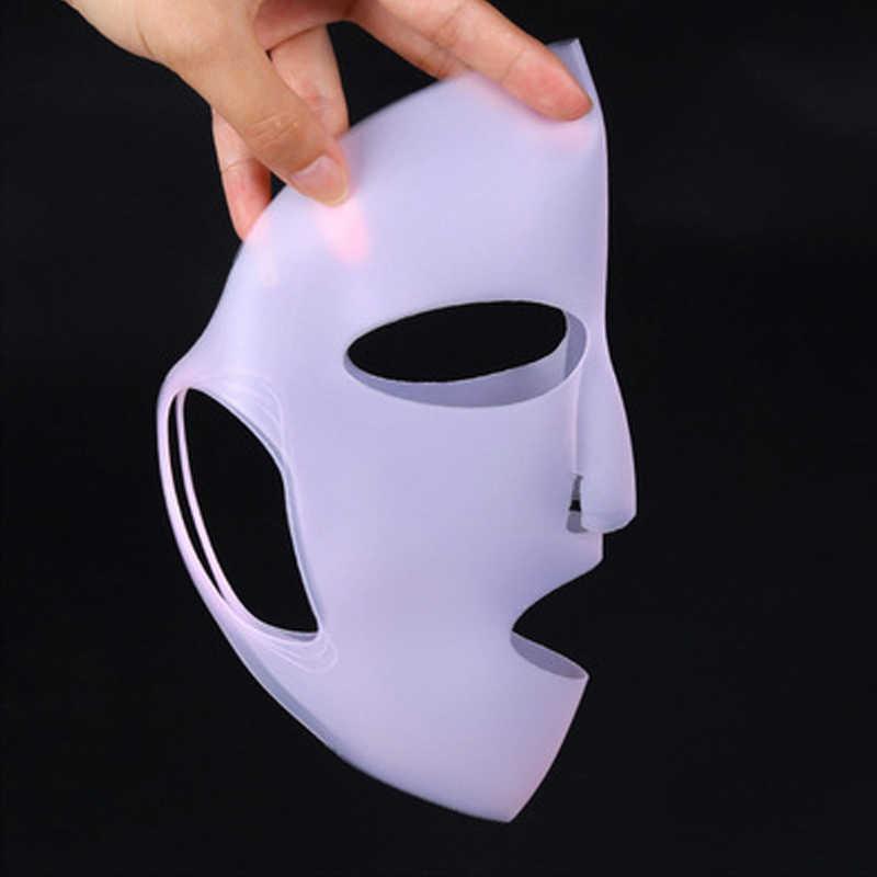 Силиконовая маска для лица, маска для лица, увлажняющая, Антибликовая маска, фиксированная, предотвращающая испарение эссенции, многоразовая маска для ухода за кожей лица