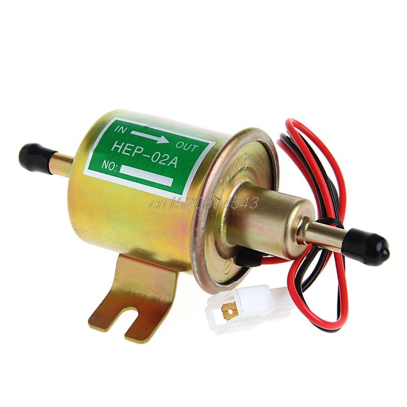 Kreativ 12 V Universal Gas Diesel Inline Niedrigen Druck Auto Elektrische Kraftstoff Pumpe Öl Für Diesel & Benzin Motoren G21 Dropship GläNzende OberfläChe Sanitär Pumpen