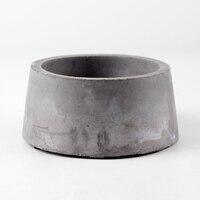 Nicole Silicone Cement Flowerpot Mold Handmade Round Shape Concrete Mould
