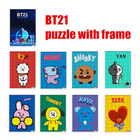 Kpop Home BTS Bangtan Boys Bt21 Fans Club Same Harajuku Style High Definition Diy Puzzle Picture