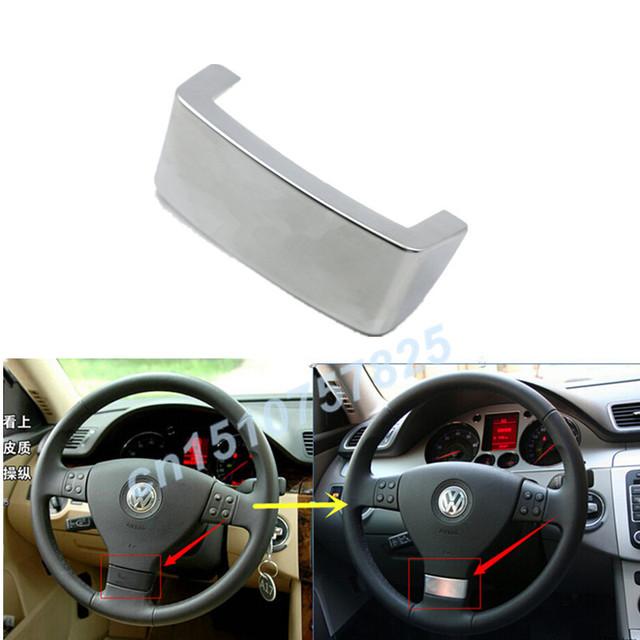 ABS Chrome guarnição da tampa do volante Multifunções decorativo quadro capa para vw Golf GTI Jetta MK5 Passat B6 Touran